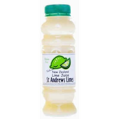 Natural NZ Lime Juice GF 250ml by St Andrews Limes buy online at Jo-Ann & May's Online Gourmet Food www.jomaysgifthampers.com.au