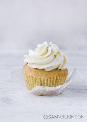 food Photography Vanilla Cupcake