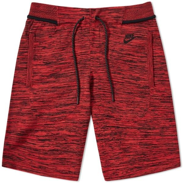 Nike Tech Knit Short (85.755 CLP) ❤ liked on Polyvore featuring men's fashion, men's clothing, men's activewear, men's activewear shorts and nike