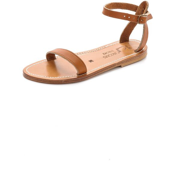 K. Jacques Laura Ankle Sandals ($265) ❤ liked on Polyvore featuring shoes, sandals, pul natural, leather sole sandals, genuine leather shoes, k. jacques, k. jacques shoes and k jacques sandals