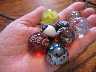 1950s Marbles Coca Cola Eight Marbles 1940 1950 S