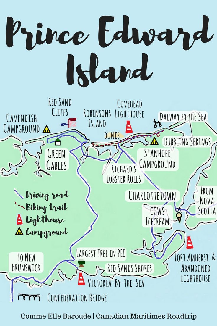 What to do for 3 days and 2 nights on Central Coastal Prince Edward Island, Canada - Charlottetown, Stanhope, Cavendish, Victoria-by-the-Sea: camping and biking in the national park, lighthouses, seaside trails, beaches, red sea shores and cliffs, COWS ice cream and Richard's lobster rolls!