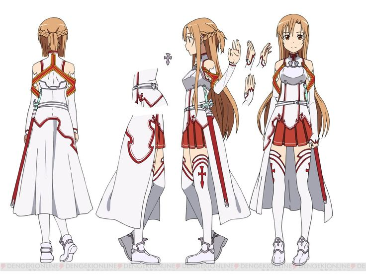 Asuna (Knights of the Blood Oath Guild) - In game Character and outfit design (SAO)