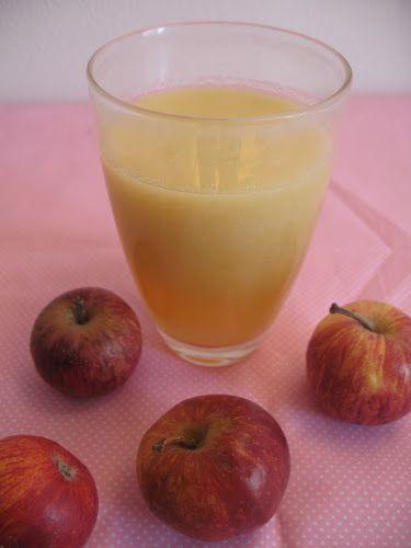 Sumo de maçã e gengibre