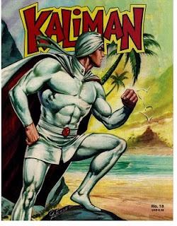 """Un clásico """"Kalimán"""" creado originalmente para la radio en México por Rafael Cutberto Navarro y Modesto Vázquez González en 1963. Kalimán viene de una civilización subterránea conocida como el reino de Agharta. Ver más en http://www.kaliman.net/"""