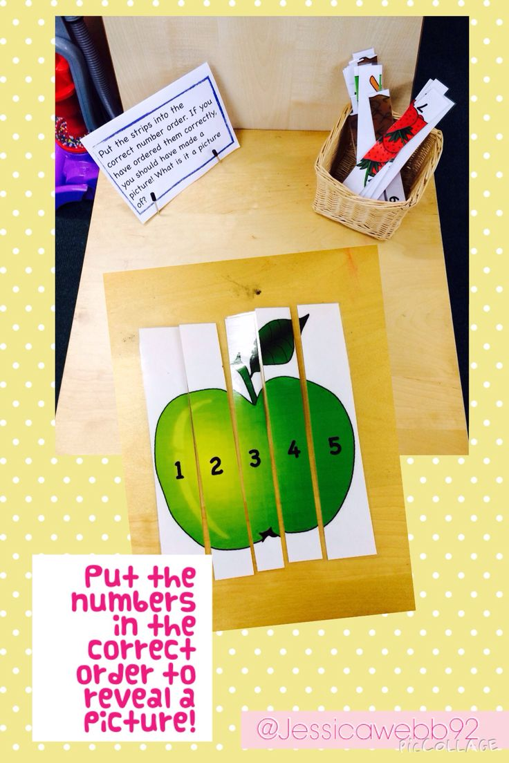 Put the numbered pieces of card in to order to reveal a picture.