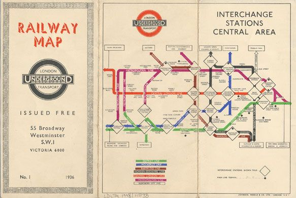 Folded out, the back of Becks first pocket #LondonUnderground map