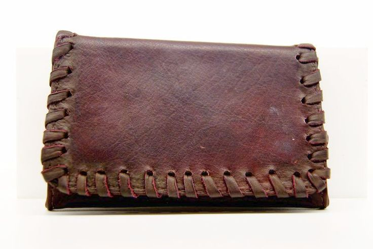 Pellami : Lubinski brown tobacco pouch woven leather - Tabaccheria Sansone - Pipe Tabacco Sigari - Accessori per fumatori