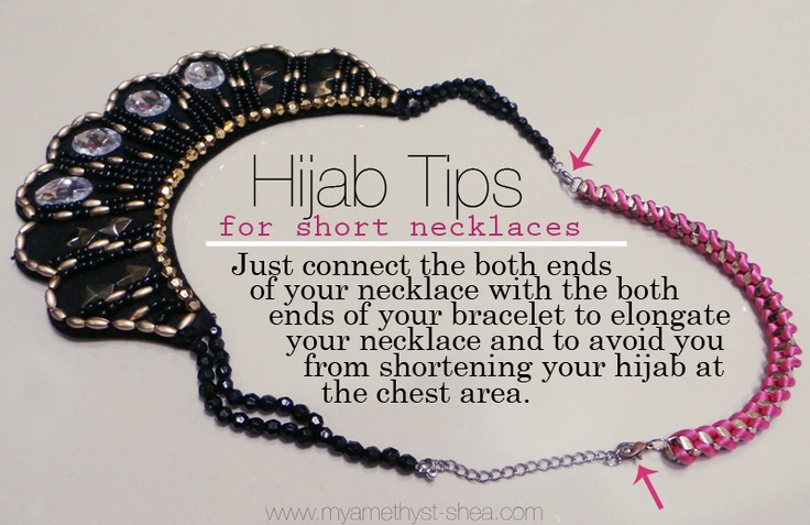 My Amethyst ♡ Hijab Tip to Elongate a Short Necklace