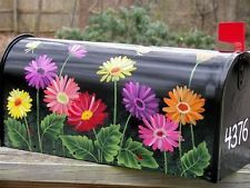 HaNDPaiNTeD FLaG RuRaL MaiLBoX aRT GaRDeN GeRBeRa DaiSieS CoLoRFuL BuTTeRFLieS