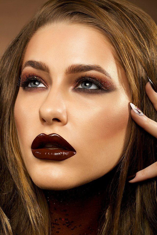 Magnum's 25th Birthday Campaign.  Make-up and Hair by Karla Powell  Chocolate Ice-cream nails and lips