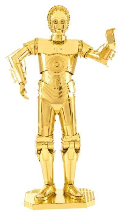3D kovové puzzle METAL EARTH Star Wars: C-3PO (zlatý)