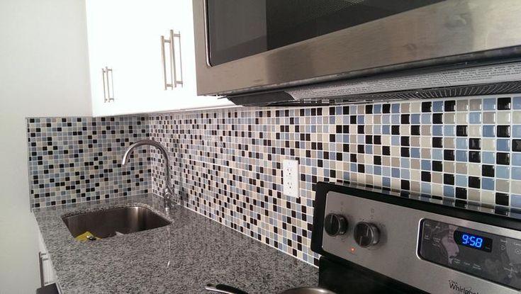 les 242 meilleures images du tableau carrelage mural adh sif r alisations sur pinterest. Black Bedroom Furniture Sets. Home Design Ideas