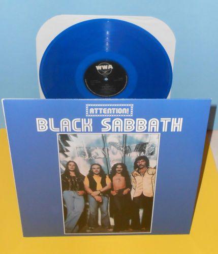 Black sabbath attention volume two lp record blue vinyl ozzy