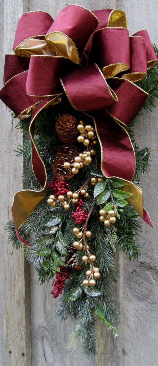 10 Hermosas Decoraciones Para Navidad En Tonos Rojos O Vino ¡Son Perfectos Para Colocar En Tu Hogar! | Yo Amo Las Manualidades