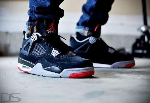 sneakers | Air Jordan 4 Black/Red #sneakers