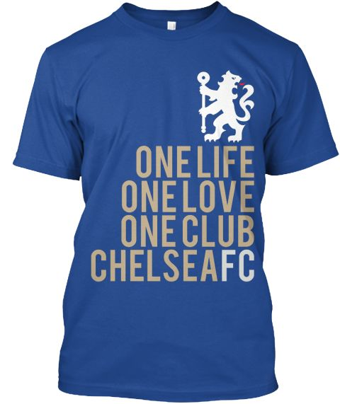 One Life One Love One Club Chelsea Fc Deep Royal T-Shirt Front