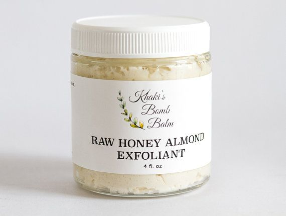 Smooth, hydrate and heal with this 100% natural facial scrub/mask. This is a Raw Honey based facial product that includes very finely ground almond meal to slough away dead surface skin and flakiness. Organic Coconut Oil adds hydration and anti-inflammatory properties while Shea Butter softens and heals. Avocado Oil is added for a super Vitamin E boost and extra firming action.  This exfoliant is ideal for all skin types but especially combination skin, oily skin, dull & damaged ski...