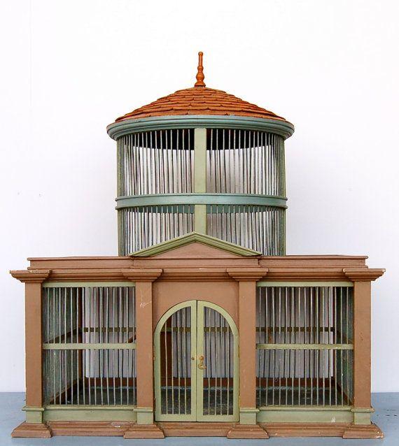 163 best images about birdcages vintage antique bird for Cage a oiseau decorative