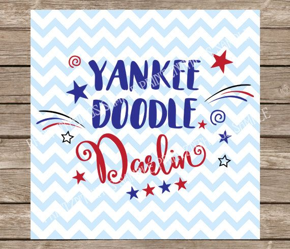Yankee Doodle Darling SVG File .SVG PNG DXF  Baby Fourth of July SVG file for any compatible electric cutting machine. Download the file attached and import the image into any compatible cutting machine software.  ---------------PLEASE NOTE: This listing is for digital download only. No physical items will be mailed. -----------  Sizing can be adjusted inside your software.  By purchasing this item you agree to not distribute or resell the file(s) contained in this download. Etsy will send…