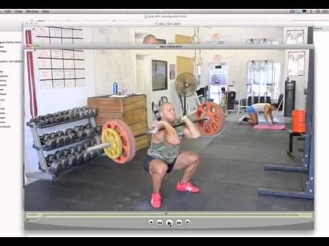 How To Power Clean (power clean tutorial) (very good...need to practice front squat to do this right...very scary move)