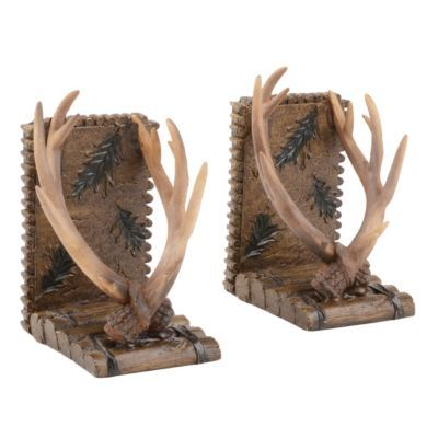 17 best images about kirkland 39 s on pinterest votive holder floor lamps and deer - Deer antler bookends ...