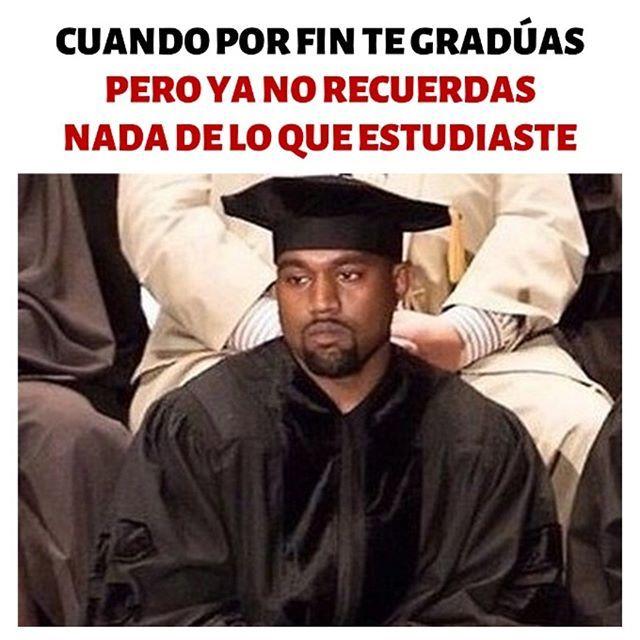 Cuando por fin te graduas pero ya te olvidas de todo lo que estudiaste