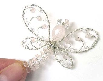 White Wedding Pearl Dragonfly Brooch  Dragonfly Jewelry Tagt