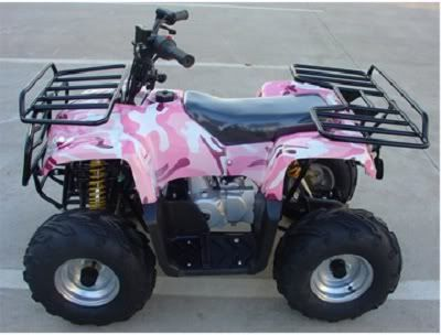 Pink Honda Four Wheeler | Pretty Pink Camo Kids Atv 110cc Quad 4 Wheeler Off Road 16 Quot Tires ...