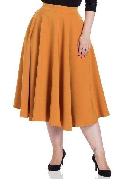 fd4f9ff8d NEW! Sandy Full Circle Pocket Swing Skirt in Mustard by Voodoo Vixen ...