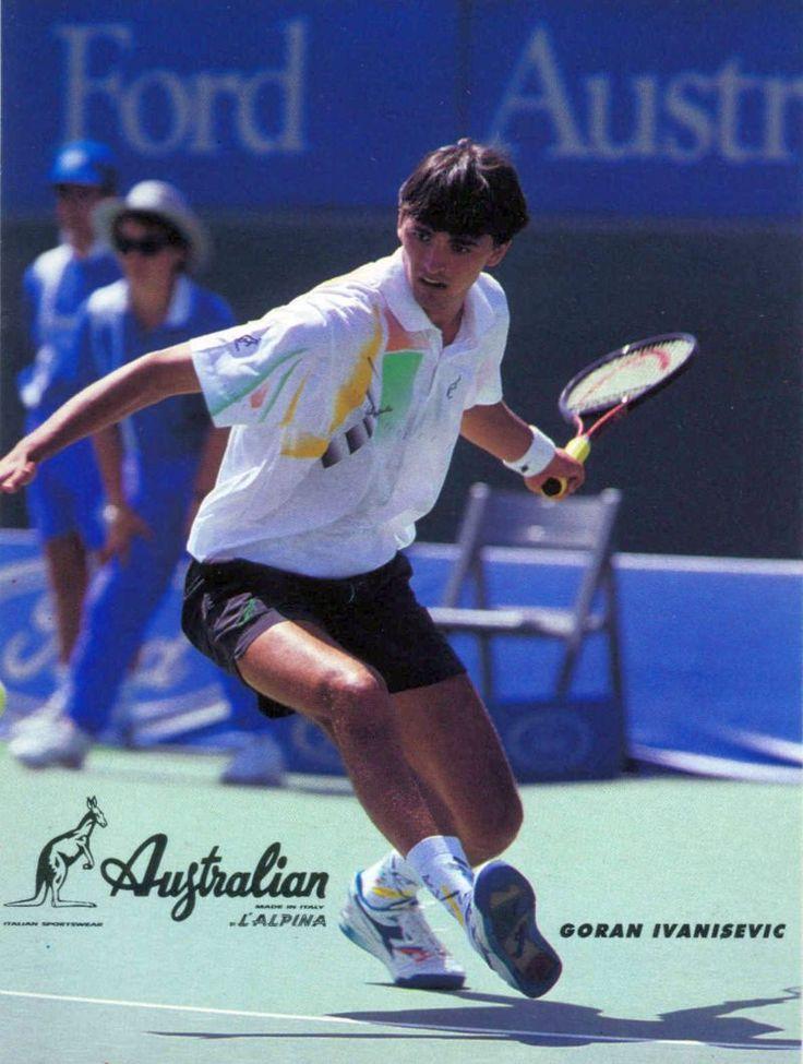Goran Ivanisevic, Australian Collection  #ivanisevic #goranivanisevic #vintagetennis #tennisfashion #retrotennis