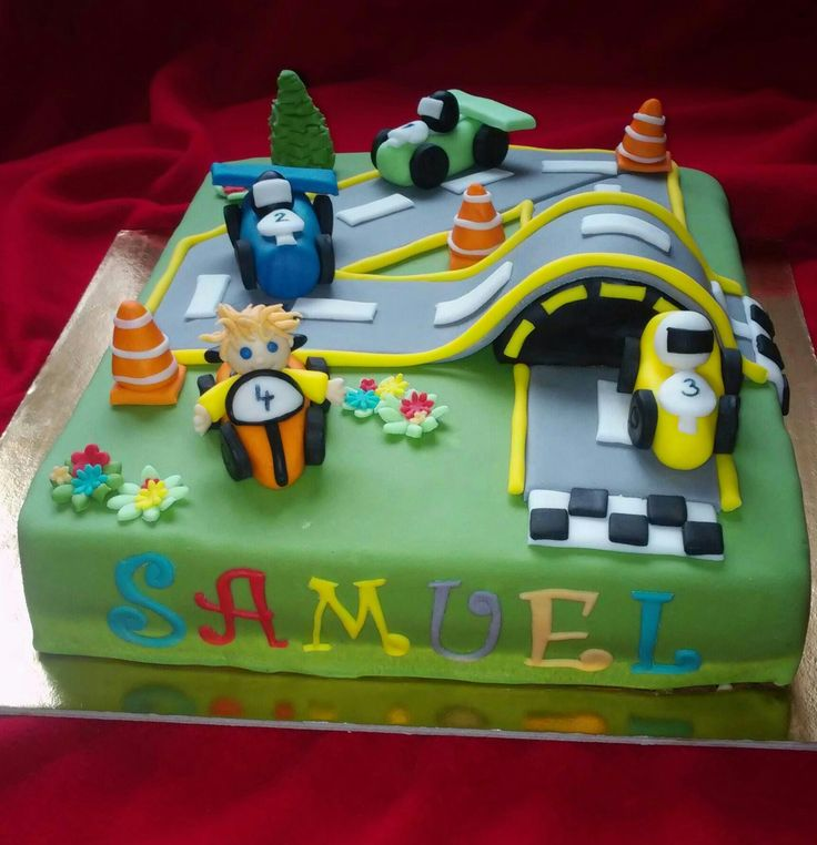 4th birthday - car racing