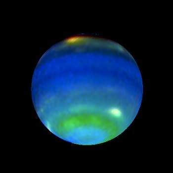 Neptune is a dreamy, veiled planet, representing our dreams, ideals, visions and aspirations. Also the planet of disillusionment and disappointment, an opportunity to let go of illusions and unkept promises. photo is of Neptune August 13, 1996 - Hubble Photo