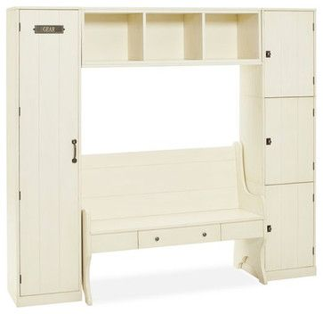 MUD ROOM – Modular Family Locker Entryway System With Bench traditional hall trees Pottery Barn
