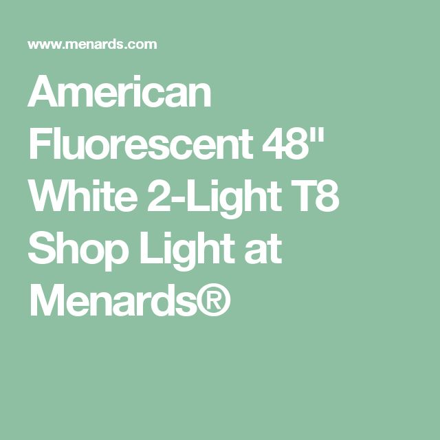 Best American Fluorescent 48 White 2 Light T8 Shop Light At 400 x 300