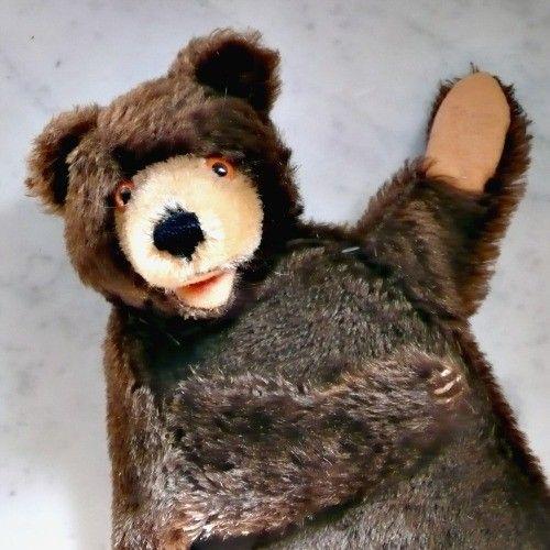 STEIFF PUPPET Genuine Steiff Bear Vintage 1960s by HamiltonBay, $125.00