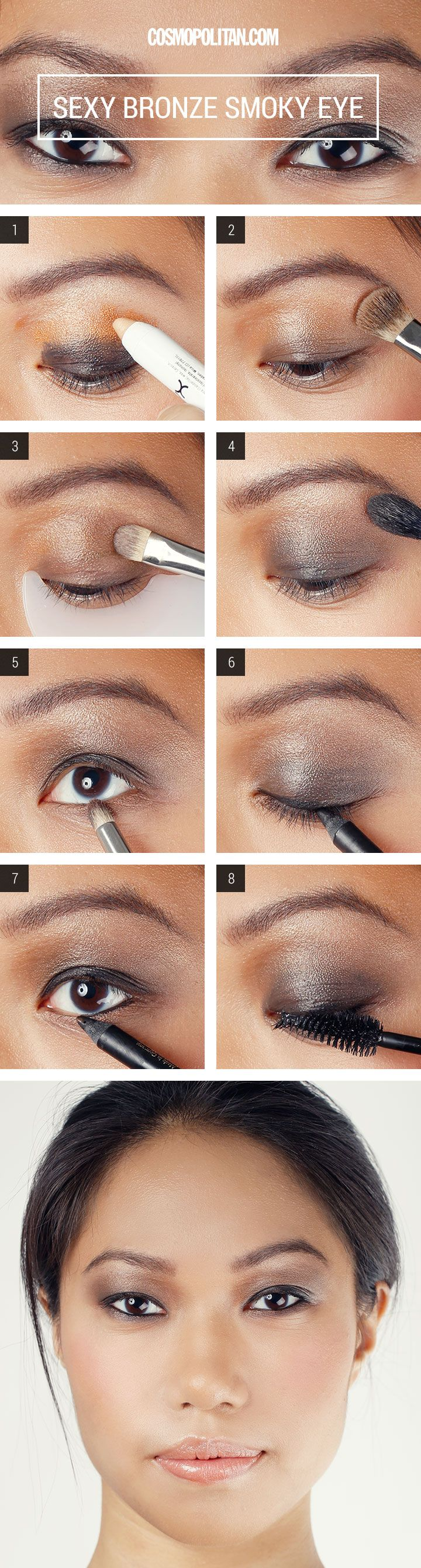 Cute drawing animal 183 kim kardashian at the beach 183 183 mom stress - Makeup How To Sexy Bronze Smoky Eyes
