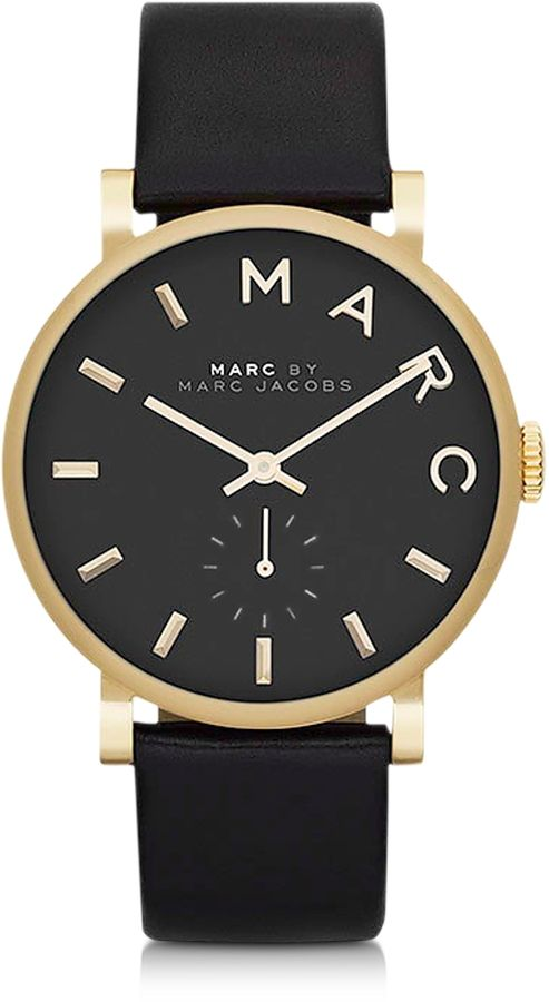 Marc by Marc Jacobs Black Baker 36.5MM Round Women's Watch - $195.00