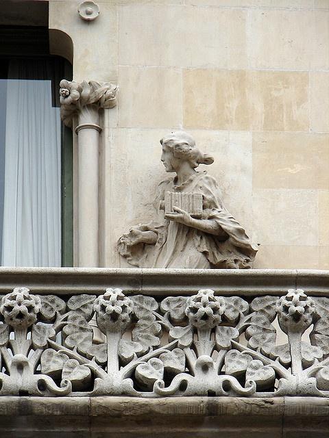 Barcelona   Detall  Casa  Lleó Morera de  Domènech i Montaner