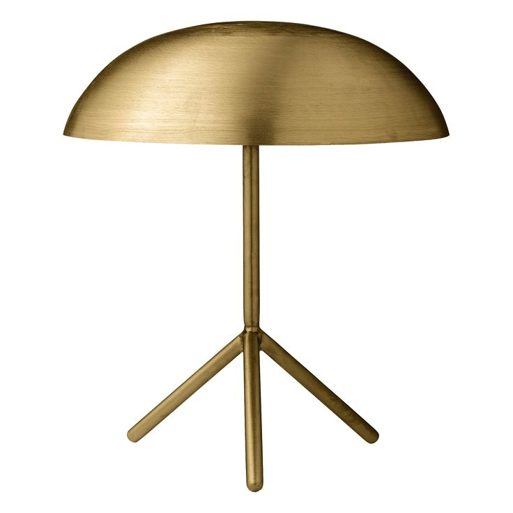 The Table Lamp by Bloomingville boasts a frame finish in gold, with a gold light shade. This beautiful light is the perfect compliment to a contemporary liv