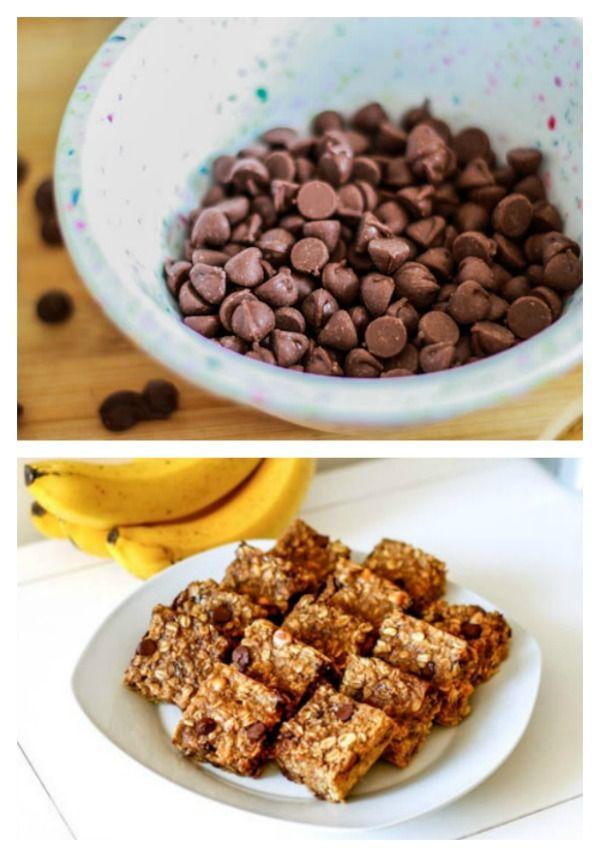 Peanut Butter Banana Chocolate Chip Oatmeal Bars