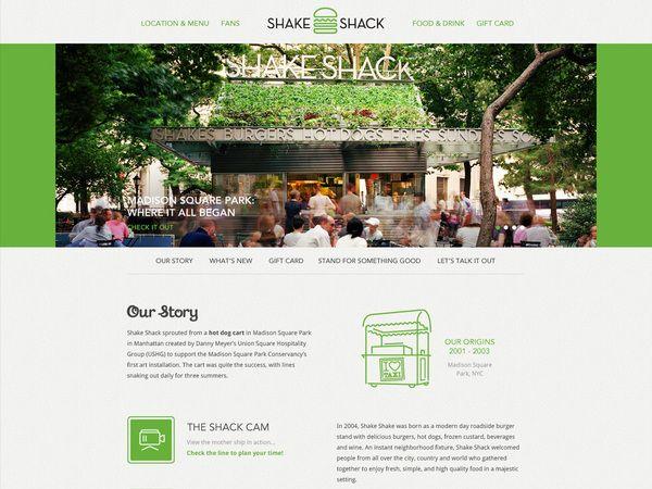 Shake Shack Website by Big Spaceship , via Behance