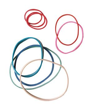 Rubber bands: hair, mail, keeping the cat from opening the pantry doors and on and on