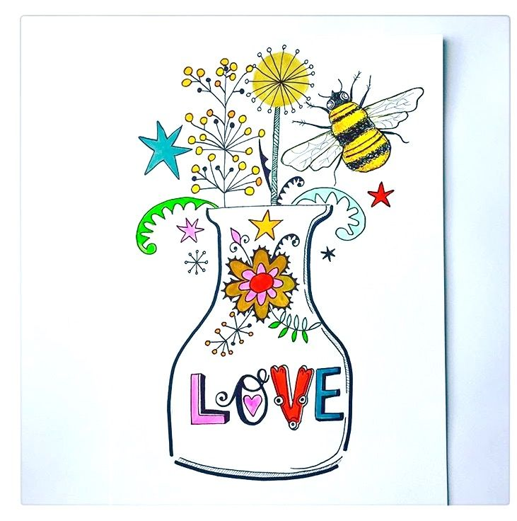 Love Vase illustration by Lizzie Reakes