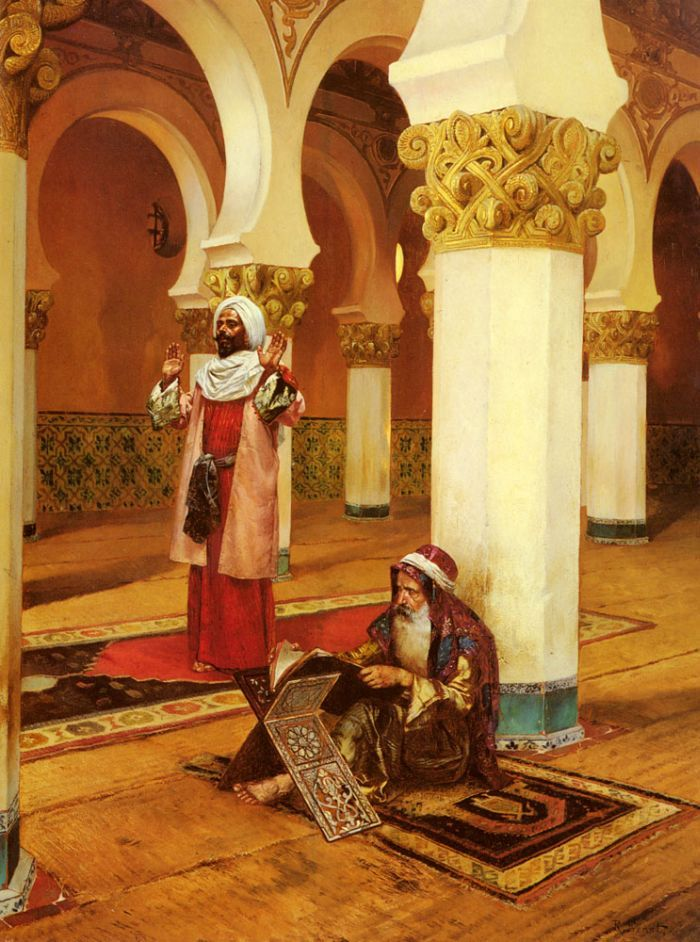 Evening Prayer by Rudolf Ernst