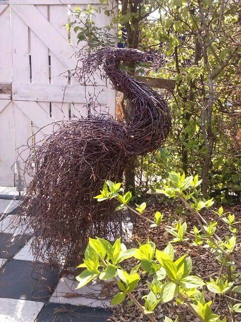 Pauw gemaakt van berkentakken romantic garden pinterest pauw takken en tuin - Deco kleine tuin buiten ...