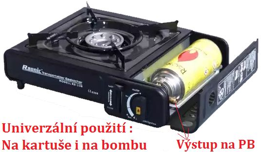 plynový vařič na bombu