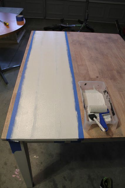 how to glaze a painted table 3
