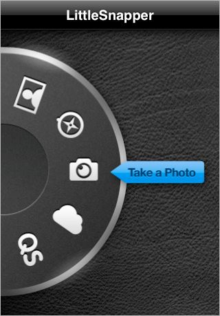 LittleSnapper skeuomorphism camera wheel dial settings UX design UI user interface
