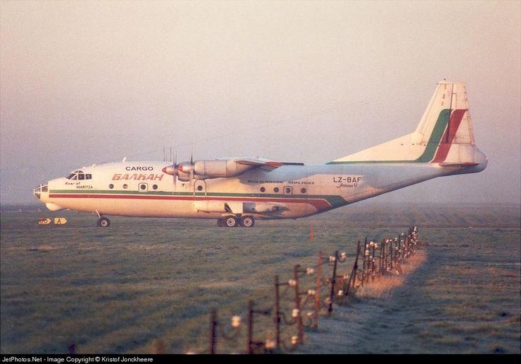 Balkan Cargo Antonov An-12B LZ-BAF 402408 Ostend Bruges Int'l - EBOS